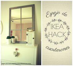 Manualidades y tendencias: Ikea hack: Espejo de cuarterones www.manualidadesytendencias.com #ikea #hack #manualidades #bricolaje #diy #espejo #lots #vintage #shabby