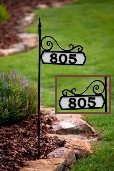 Stone House Numbers Address Plaque Lawn Stake Carved