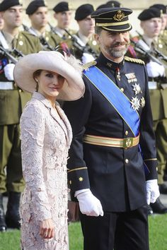 Letizia, Princess of Asturias, is the wife of Felipe, Prince of Asturias at the WEDDİNG CEREMONY OF PRİNCE GUİLLAUME AND COUNTESS STEPHANİE- THE GUESTS
