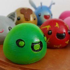 3D printing 3D Printed Slimes [Slime Rancher] - Boom, Phosphor, Rad &…