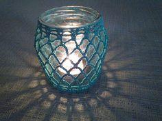 Miss Ganchillo: Portavelas a ganchillo (crochet) de bote reciclado...