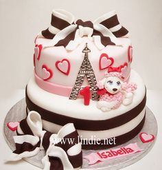 Parisian Pink Poodle Birthday Cake Picture
