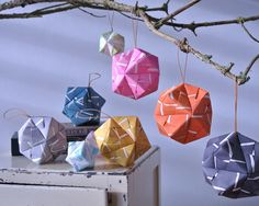 Colorful stripe handmade ornament / big via TheLabofSmallThings. Click on the image to see more!