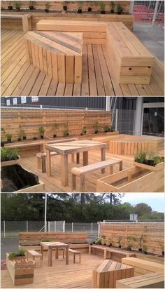 This wood pallet terrace deck has been all included with the styling of the platform that is a perfect idea for your garden location. In this terrace deck designing concept you will get an idea about the placement of the seats in a few quantity along with the settlement of the table in it.