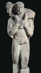 Moschophoros  570-560 B.C.  Nese tele #ancientgreekarchitecture