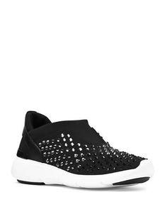 Michael Michael Kors Acetrainer Pull-On Sneakers Women's Black 9