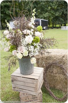 rustic reception wedding flowers,  wedding decor, wedding flower centerpiece, wedding flower arrangement, add pic source on comment and we will update it. www.myfloweraffair.com can create this beautiful wedding flower look.
