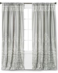 """The Industrial Shop Vintage Gate Curtain Panel - Gray - 84"""" - The Industrial Shop from Target   BHG.com Shop"""