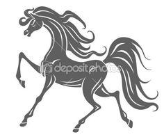 poulain cheval sauvage — Vecteur #8987707