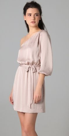 i usually only like one-shoulder dresses in light, neutral colors - this one fits the bill and is very pretty