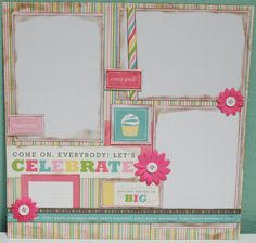 page two...Happy Birthday Girl 12x12 Premade by ClassyScrapperDesign on Etsy, $13.99