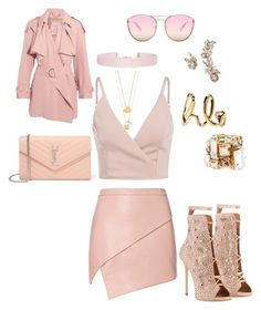 """""""Pretty in pink"""" by bobbieblush on Polyvore featuring Michelle Mason, Giuseppe Zanotti, Burberry, Yves Saint Laurent, Lanvin, Humble Chic, Chloé, Quay, Marchesa and Tory Burch"""