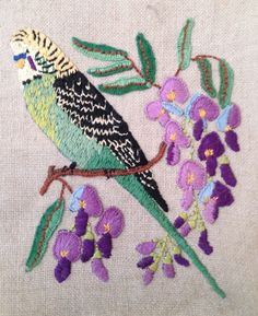 Crewel embroidery - nicely done!