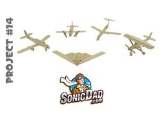 You can make a complete fleet of cool airplanes from popsicle sticks and SonicDad instructions.