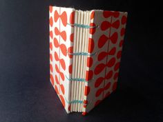 Orange coffee bean little book 3 X 4 by NomadicRootsStudio on Etsy