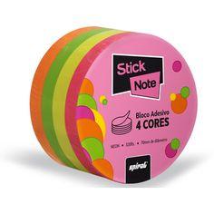 Bloco autoadesivo neon cores c/320fls Stick Note - Escritório - Kalunga.com