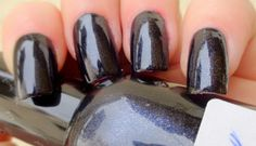 black glitter nail polish,black nail polish with silver glitter buy it here http://en.dawanda.com/product/57083607-set-of-2-nail-polish-dark-ocean-and-black-galaxy