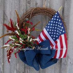 4th of July grapevine Wreath | Americana Wreath, Patriotic Wreath, 4th of July Wreath, Spring Summer ...