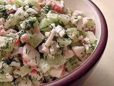 Sałatka krabowa Pasta Salad, Potato Salad, Lunch Box, Potatoes, Ethnic Recipes, Impreza, Food, Per Diem, Crab Pasta Salad
