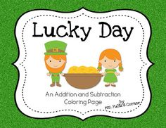 Here's a St. Patrick's day coloring page focused on addition and subtraction.