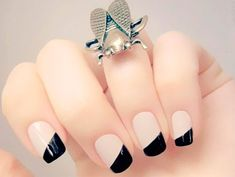 Retrospective 2016 - The 5 Most Used Decorated Nails of the Year! - Nail Colors & Nail Tips Nail Art Designs, Nail Designs 2017, Popular Nail Designs, Holiday Nail Designs, French Nail Designs, Simple Nail Designs, Home Beauty Tips, Beauty Hacks, French Nails