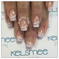 Ideas French Manicure With A Twist Tips Summer Wedding Nails French Nails, French Manicure With A Twist, May Nails, Nails Only, Hair And Nails, Manicure Colors, Manicure And Pedicure, Nail Colors, Colorful Nail Designs