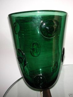 Large Modernist Green Vase Hadeland