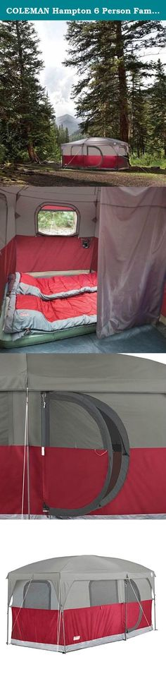 COLEMAN H&ton 6 Person Family C&ing Cabin Tent w/ WeatherTec | 13u0027 x 7 & Timber Ridge Large Family Tent for Camping with Carry Bag 2 Rooms ...