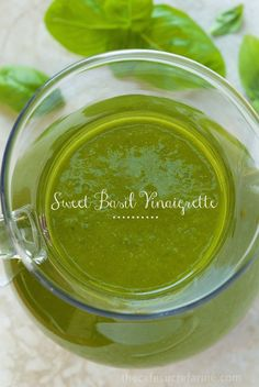 Sweet Basil Vinaigrette - thecafesucrefarine.com Thanks, Chris. I love all your dressings and salads.