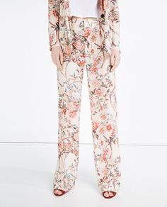 PRINTED STRAIGHT-CUT TROUSERS-View All-TROUSERS-WOMAN-SALE | ZARA United States