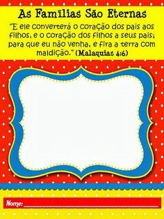 """Capa para Caderninhos - """"As Famílias São Eternas"""" (Tempo de Compartilhar 2014)"""