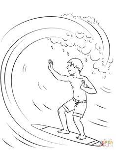 malvorlage surfen | malvorlagen - ausmalbilder