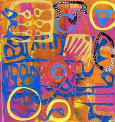 Michèle Brown Artist - The Old Cells Studio: A circus of shapes - painting and collage