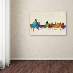 Trademark Fine Art Leeds England Skyline Iii Canvas Art by Michael Tompsett, Size: 22 x 32, Multicolor