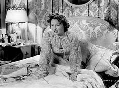 Barbara Stanwyck in negligee ~ 1940s
