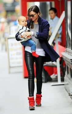 Leather pants and isabel Marant Sneakers