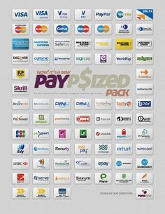 PayPsizedPack_Presentation payment service providers buttons