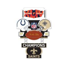 Super Bowl XLIV (44) Colts vs. Saints Champion Lapel Pin
