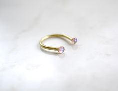 Opal open ring by Blydesign $40