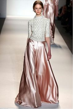 Metallic Pink Long Skirt