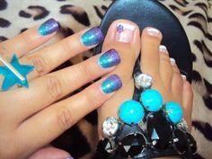 Acrylic Rockstar Nails | Acrylic Nail Tips | Health & Beauty » Purple/Blue Rockstar nails And ...