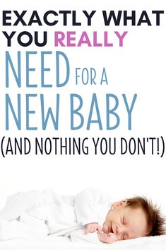 New baby essentials checklist - and no fluff! This is what a newborn actually needs, great for if you are preparing for baby on a budget! Those days after baby are so precious - just focus on baby, not on baby stuff! List For New Baby, Baby List, Need For Baby, New Baby Shopping List, Shopping Lists, Newborn Baby Needs, Newborn Babies, Newborns, Saving Money