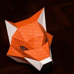 3D Paper Model Instruction - teaching illustration paper toy 1 -.