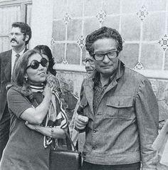 Elena Poniatowska y Octavio Paz en Atlixco, Puebla (1970) Foto: Héctor García
