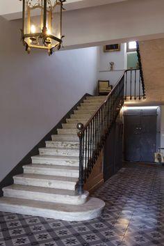 Escalier Marbre blanc XIXème