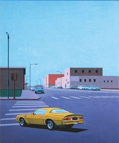 Hiroshi Nagai Yellow Car Art Print by fuerstdominik - X-Small Vaporwave Wallpaper, Vaporwave Art, Retro Aesthetic, Retro Art, Best Graphics, Digital Illustration, Retro Illustration, Illustrations, Pixel Art