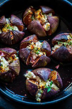 Ise tehtud. Hästi tehtud.: Viigimarjad kitsejuustu, tüümiani ja meega Eggplant, Fig, Baked Potato, Healthy Recipes, Healthy Foods, Potatoes, Snacks, Baking, Vegetables