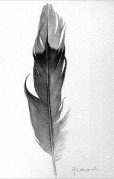 feather tattoo idea - golden eagle feather