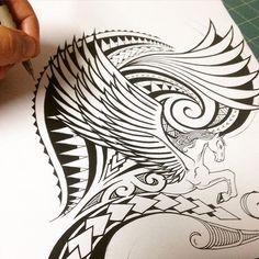 Style #polynesiantattoosleg #samoantattoosfemale