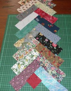 """excellent post about starting your own braid quilt. Keep in ind yiou can cut your strips anysize you want as long as your ae consistent. The inspiration for mine was actually a mini - 3/4""""x2"""" I believe. I did not cut mine that small!!!!"""